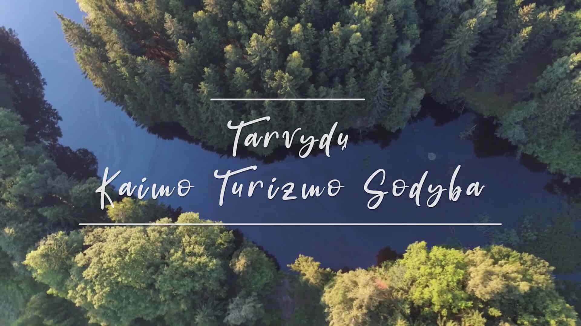 Tarvydų kaimo turizmo sodyba. Drono video.